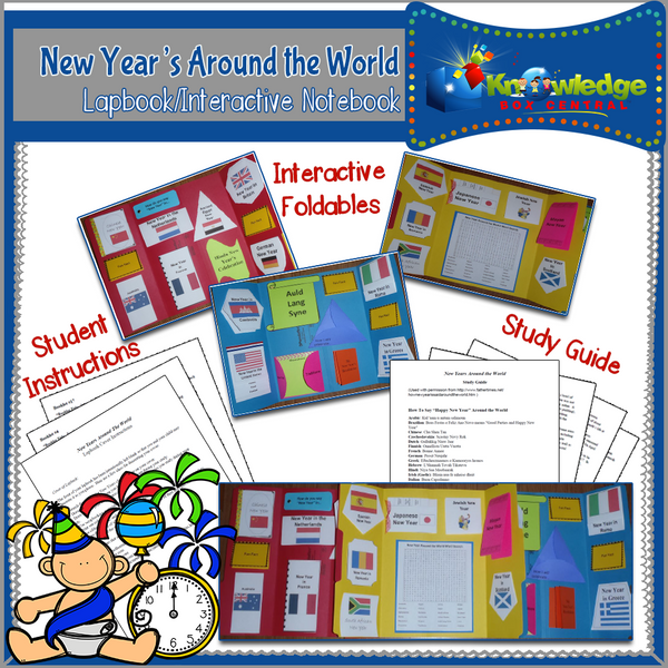 New Year's Around the World Lapbook