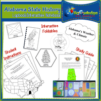 Alabama State History Lapbook / Interactive Notebook