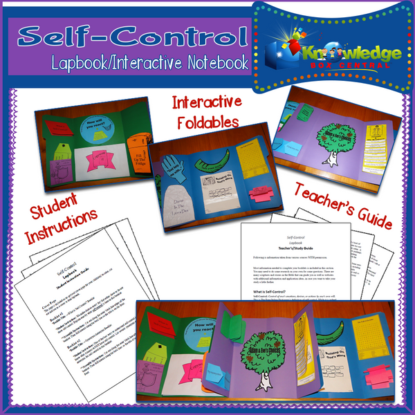 Self Control Lapbook