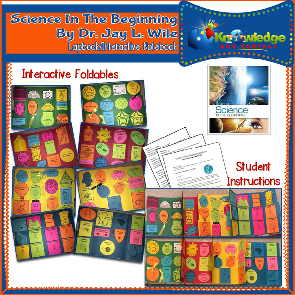Berean Builders Elementary Series: Science in the Beginning (Dr. Jay Wile) Lapbook