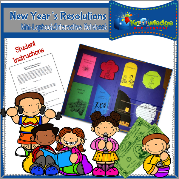 New Year's Resolutions Mini-Lapbook