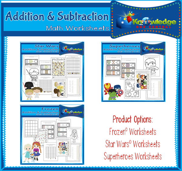 Addition & Subtraction Math Worksheets