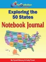 Exploring the 50 States Notebook Journal