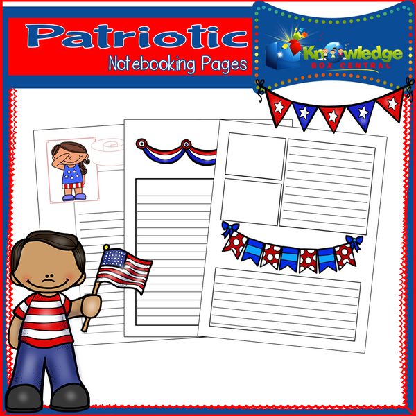 Patriotic Notebooking Pages