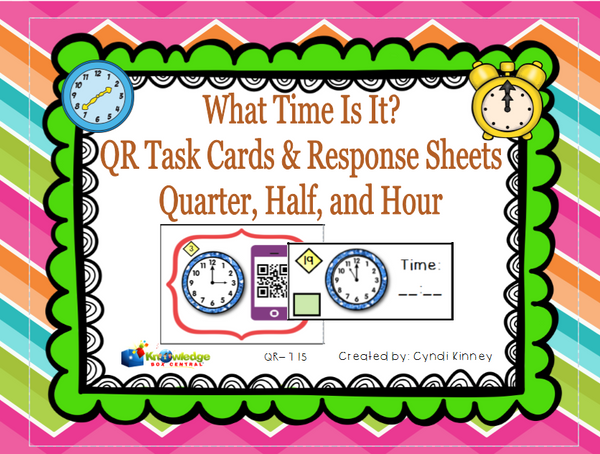 What Time is It? QR Code Task Cards