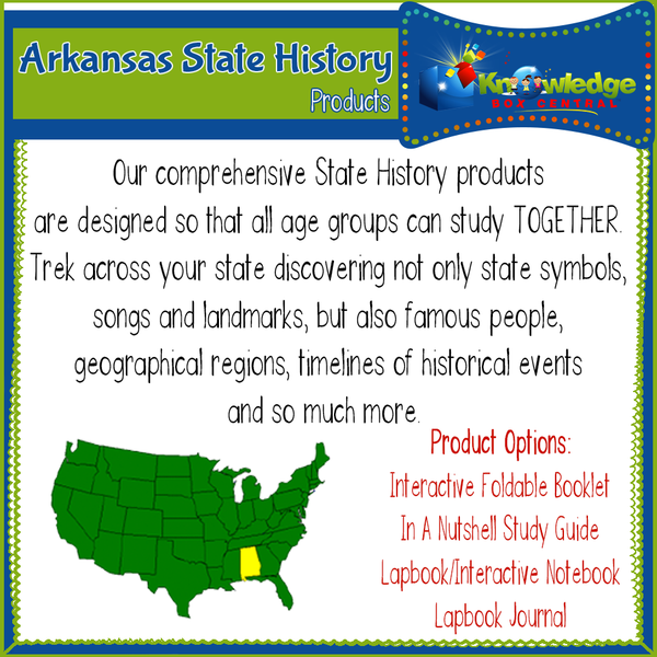 Arkansas State History Products