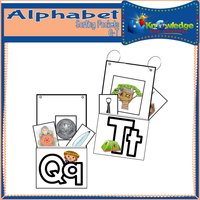 Alphabet Sorting Pockets Q-T