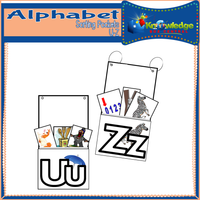 Alphabet Sorting Pockets U-Z