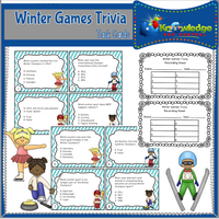 Winter Games Trivia Task Cards