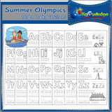 Summer Games Alphabet Tracing Pages