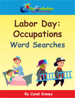 Labor Day Occupations Word Searches