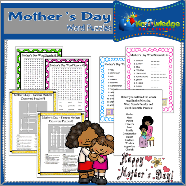 Mother's Day Word Puzzles