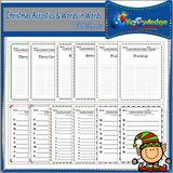 Christmas Acrostics and Words in Words Worksheets