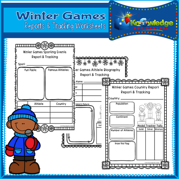 Winter Games Reports & Tracking Worksheets
