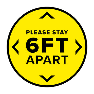 Stay 6ft Apart Circle Floor Decal