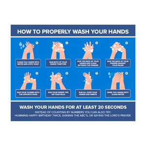 How to Wash Your Hands Decal
