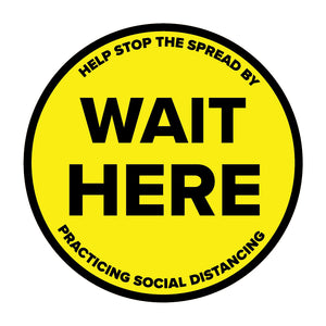 """Wait Here"" Social Distancing Floor Decal"