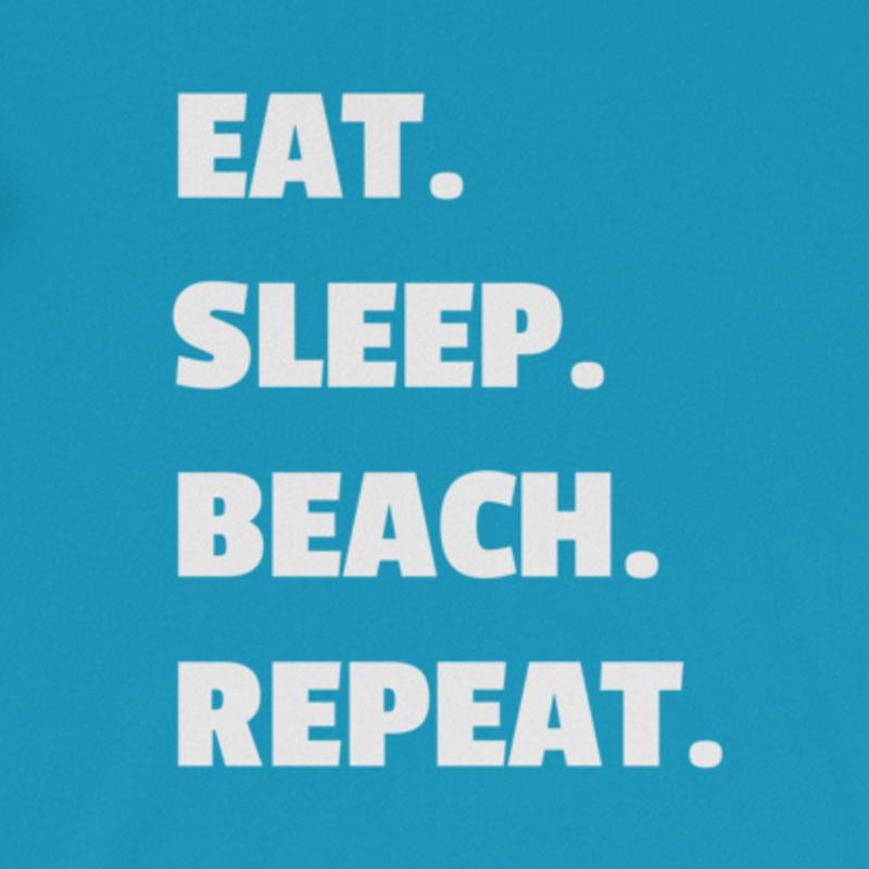 Eat. Sleep. Beach. Snarky Beaver, sarcastic funny shirt