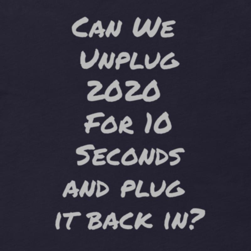 Can We Reset 2020?-Unisex T-Shirt-The Snarky Beaver-covid shirt-Blue