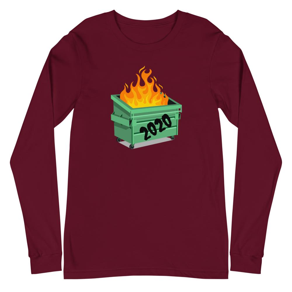 Garbage Fire - Long Sleeve T-shirt - The Snarky Beaver quarantine funny shirt