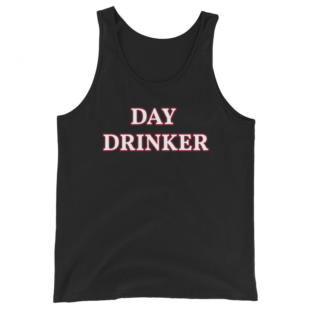 Day Drinker - Unisex Tank Top - The Snarky Beaver sarcastic funny shirt black