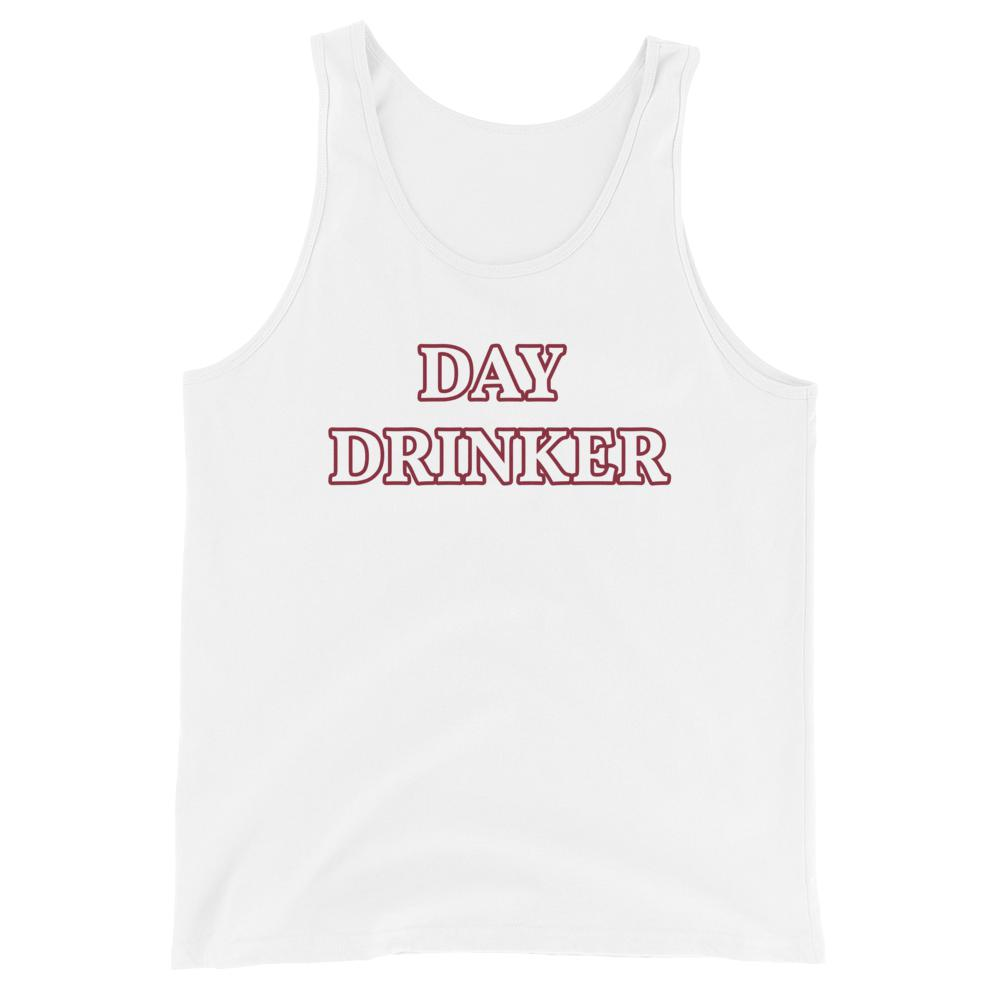 Day Drinker - Unisex Tank Top - The Snarky Beaver sarcastic funny shirt white