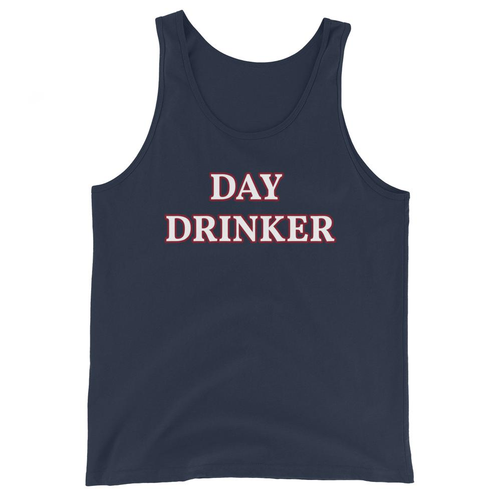 Day Drinker - Unisex Tank Top - The Snarky Beaver sarcastic funny shirt navy