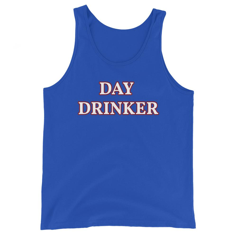 Day Drinker - Unisex Tank Top - The Snarky Beaver sarcastic funny shirt blue