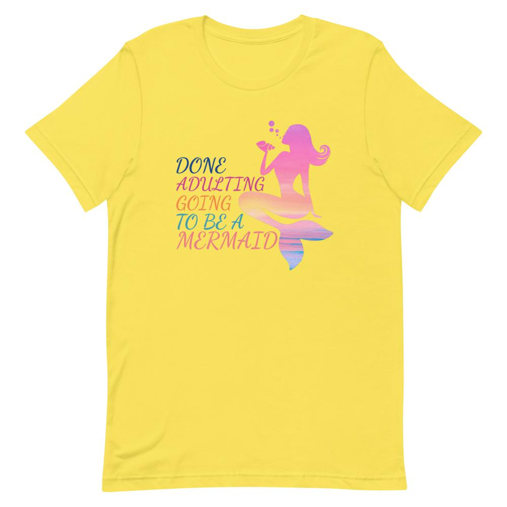 mermaid, Snarky Beaver, sarcastic funny shirt, unisex t-shirt, yellow