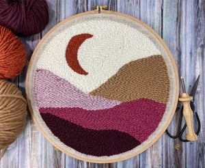 Moonrise Landscape PDF Punch Needle Pattern