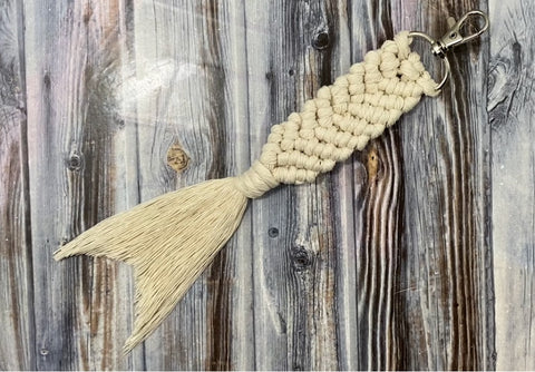 Macrame Mermaid Tail Keychain Pattern