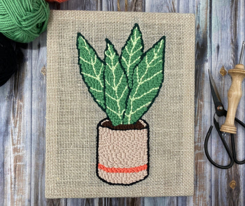 Snake Plant PDF Punch Needle Pattern