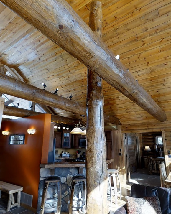 post posts beam beams log logs timber timbers support decorative structural golden eagle log timber homes log home mart parmeter