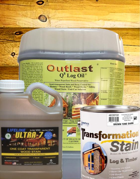 interior stain sealer topcoat clear coat paint transformation log & Timber lifeline ultra 7 permachink sashco log home mart golden eagle log & Timber homes parmeter wisconsin maintenance upkeep Schroeder Log Home Supply exterior stain