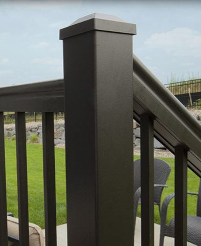 harmony maintenance free aluminum railing panel panels powder coat coating coated black white rails baluster balusters spindles spindle metal newel post posts gate rail picket system preassembled assembled panels alta victoria top rail snap profile