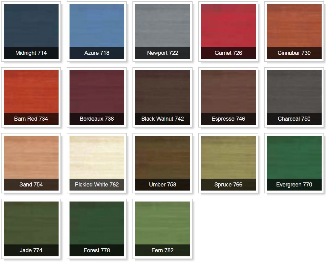 permachink lifeline accents exterior interior stain colors chart