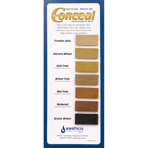 Conceal - Textured Wood Caulk - 10 oz. Single Tube caulk chink caulking chinking wood log home cabin textured colored sashco