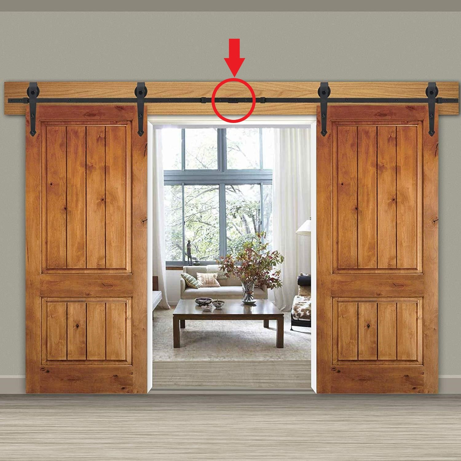 barn door flat track connector plate piece metal rolling sliding extension adapter delaney golden eagle log homes timber log home mart
