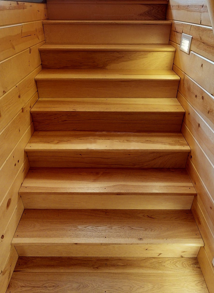 hickory stair tread step stairs steps stairway