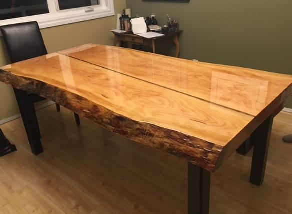 Live Edge Table Top with High Gloss Coating