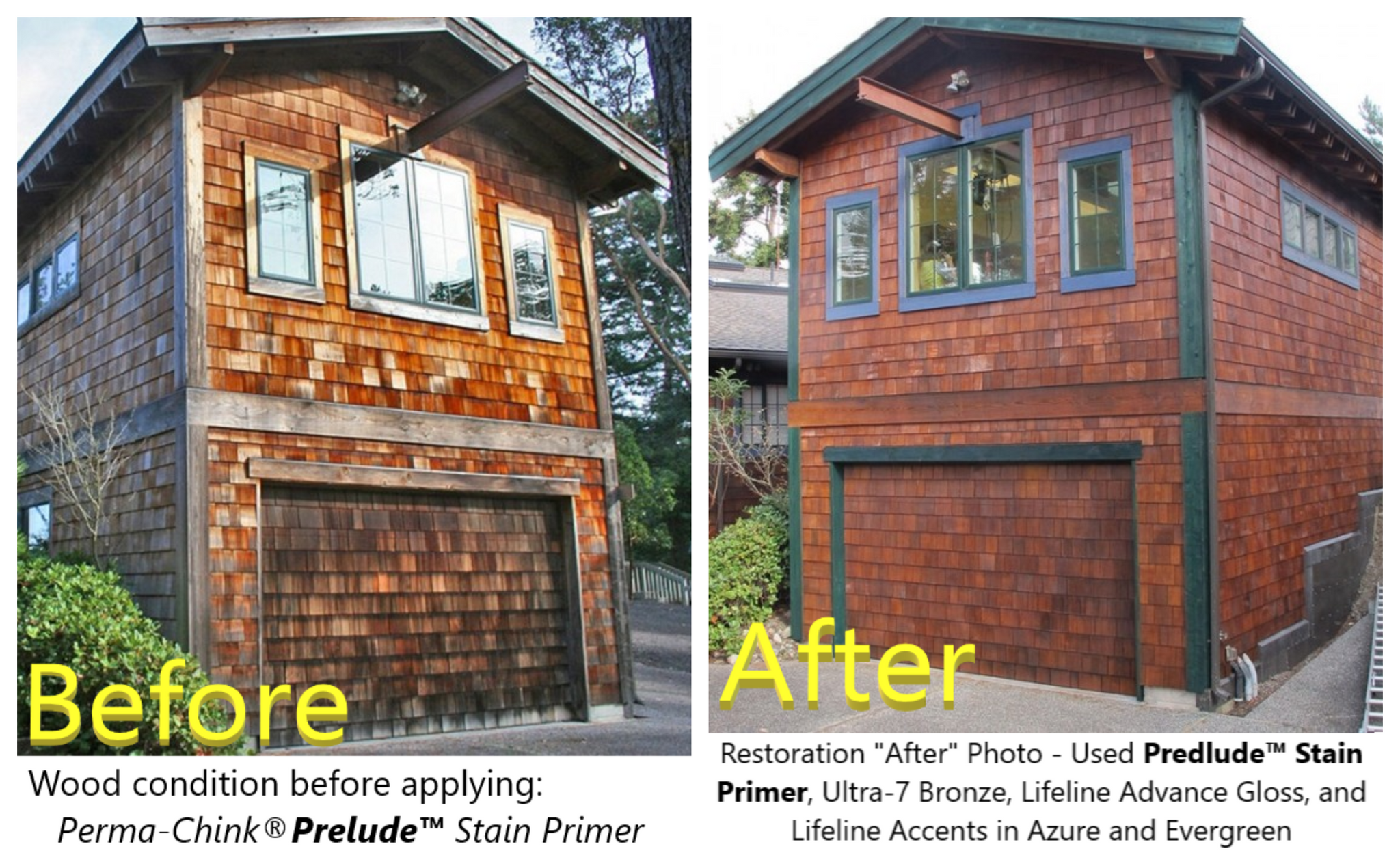 perma-chink permachink perma chink lifeline prelude wood log primer before after