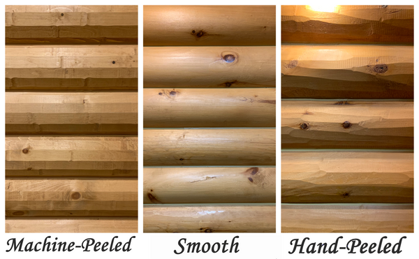 log surface textures stairs stairway staircase siding pine golden eagle rustic decor