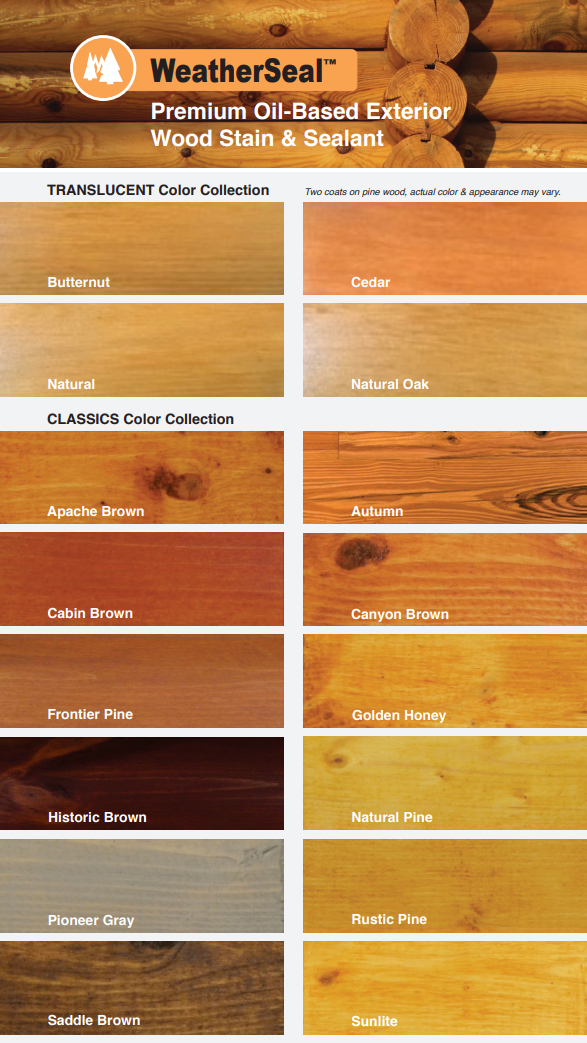 Continental WeatherSeal Exterior Stain Colors