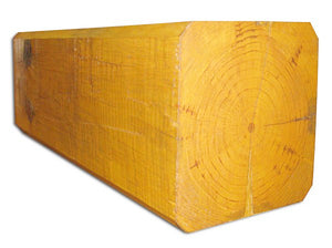 "10"" x 10"" Beveled-Edge Square Full-Log/Timber - Smooth or Hand-Hewn Surface"