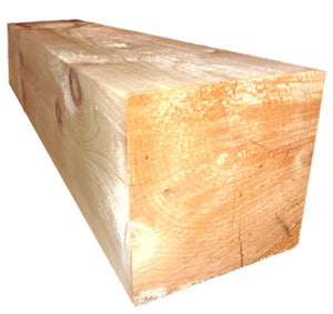 "10"" x 10"" Square Timber Inside Vertical Corner Post - Smooth or Hand-Hewn Pine"
