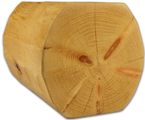"10"" x 10"" Super-Round Double-Round - Full Log"