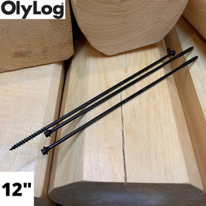 "12"" Log & Timber Screws - OlyLog"