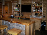 "25"" W x 8' L Rustic Wooden Pine Counter/Bar Top"