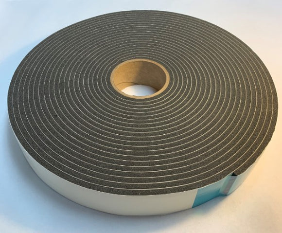 Foam Gasket Tape - Peel n Stick - 1/4in x 2in x 50ft - 1 Roll