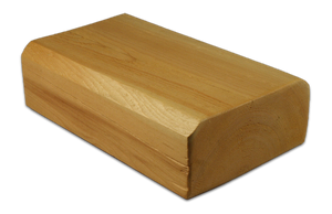 "4"" x 8"" Beveled-Edge Log Trim - Smooth or Hand-Hewn"